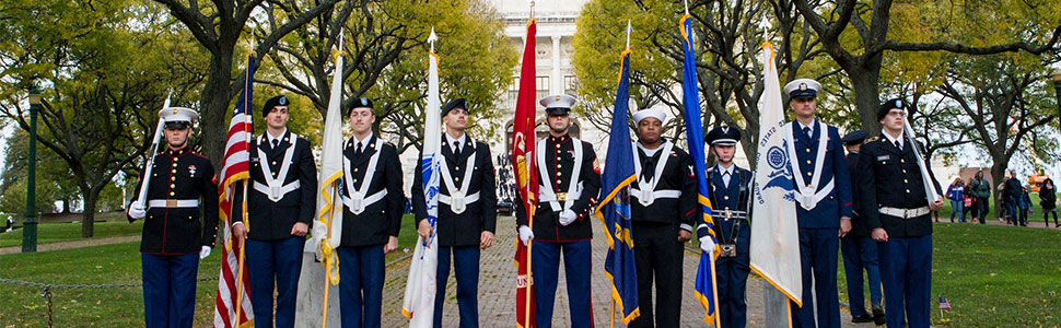 7 - WF_Salute_to_Veterans_Color_Guard ((Photograph by Ken Jancef – KJ Sports Pics)